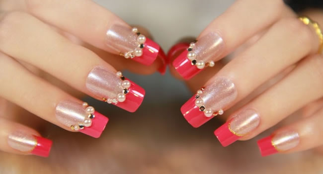 nail art purpurina